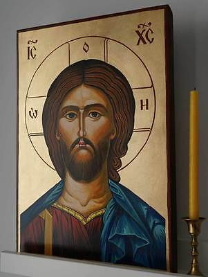 Jesus Christ Ruler of All Pantocrator Orthodox Byzantine Large Hand-Painted Icon