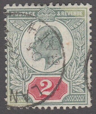 "Great Britain SG #291  2d  green and red   ""KE VII""   F"
