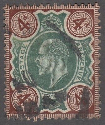 "Great Britain SG #238  4d  green and brown  ""KE VII""   F"