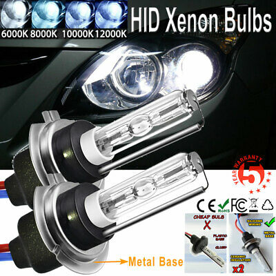 35W/55W METAL BASE H7 HID Xenon Replacement Bulbs Headlight Lamp Light