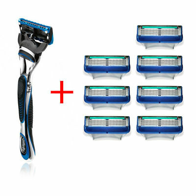 8x Gillette Fusion Proglide Manual Razor Blades Cartridge/Handle/Shaver/Shaving