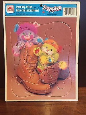 Vintage Golden Frame-Tray Popples Puzzle 1986