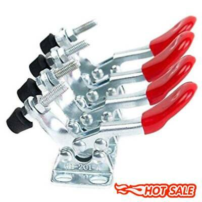 4pcs Red Toggle Clamp GH-201A 201-A Quick Release Tool Horizontal Clamp Hand