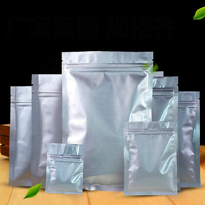 Silver/Clear Self Zip lock Plastic Retail Packaged Various Sizes Poly Bag 100pcs