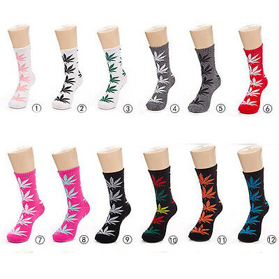 Stylish 20Styles Leaves Socks Medium Thick Sports Weeds Socks For Men And Women