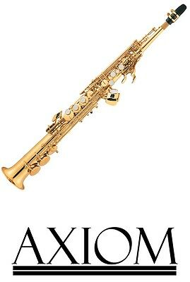 Axiom Soprano Sax - Superb Saxophone with case