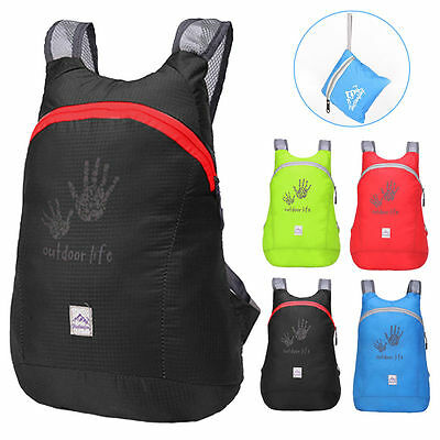 Unisex Outdoor Sports Hiking Waterproof Foldable Nylon Backpack Daypack Rucksack