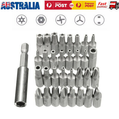 33pc Security Bit Set Drill Star Hex Spanner Torx Magnetic Screwdriver Brand New