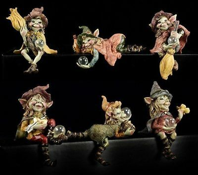Pixie Figuren als Kantenhocker - 6er Set - Anthony Fisher Kobolde Fantasy
