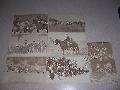 CIVIL WAR GETTYSBURG REENACTMENT FAIRFIELD PA. & STUART vs CUSTER POSTCARD SET