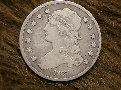 1837 U.s. Bust Quarter - Lots Of Detail - Might Fit Nicely In Your Collection