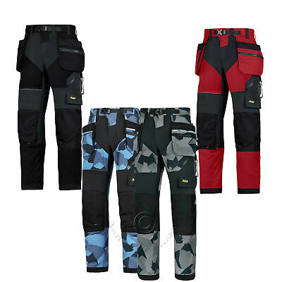 Snickers FlexiWork, Work Trousers with Kneepad & Holster Pockets - 6902