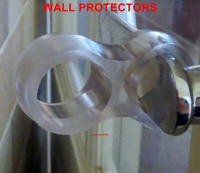 Wall Protector  Fits On Door Handle/diy /clear/ Guard /stopper/ Bumper /stopper
