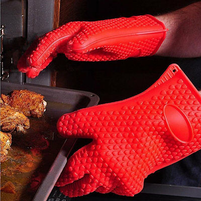 Silicone Heat Resistant Gloves Grilling Gloves Antiskid BBQ Cooking Protect