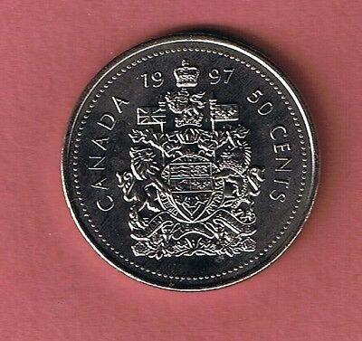 1997 Canada Half Dollar $1 Fifty Cent 50¢ Piece Coin Canadian New From Mint Roll