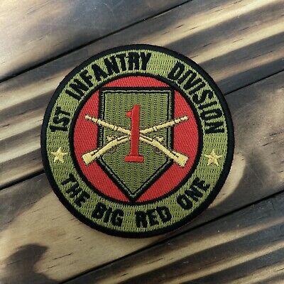 "1st Infantry Division ""The Big Red One"" Military Patch"