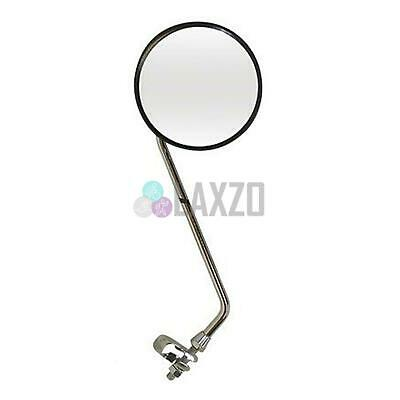 Oxford MR726 Bicycle 12'' Long Arm Round Mirror Chrome Bike Cycle Handlebar Fit