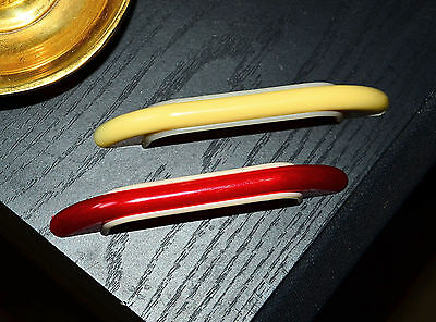 """vintage off white handle cabinet pull 3"""" 3 inch centers midcentury mid century"""