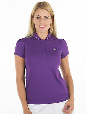 Bunker Mentality Crown Ladies Golf Polo Shirt - Royal Purple