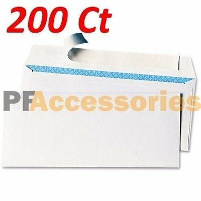 200 Ct #6-3/4 Regular Self-Seal Security White Letter Mailing Shipping Envelopes