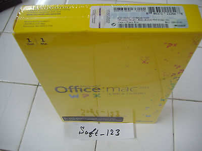 MS Microsoft Office MAC 2011 Home and Student DVD 1 User 1 Mac =RETAIL BOX=
