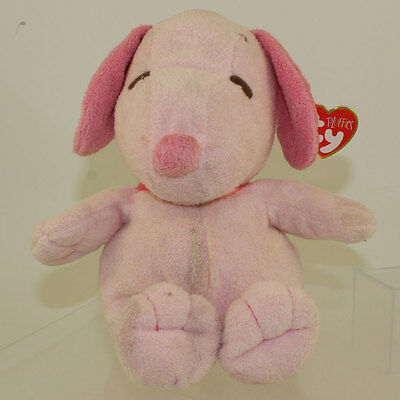 TY Pluffies - SNOOPY the Dog (Pink Tonal Musical - 11.5 inch) *NM*
