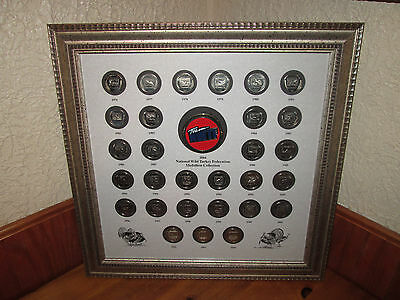 National Wild Turkey Federation 1976 - 2004 Medallion Collection Nicley Framed