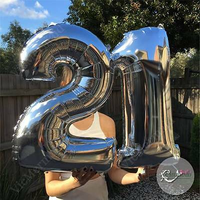 """21st Birthday Foil Balloons 32"""" Big Party Decorations Boy Girl Gold Silver 81cm"""