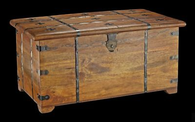 Medieval Wooden Chest with Cassette cover and Cross Box Metal