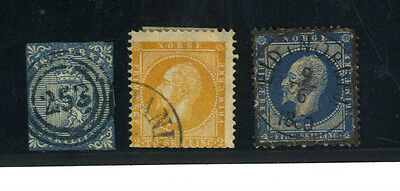Lot 3 Timbres Norvege Europe
