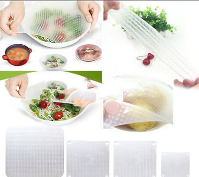 Silicone Wraps Seal Cover Stretch Cling Film Food Fresh Keep Kitchen Tools