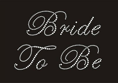 Iron On Hen Party Wedding Rhinestone Transfers- Diamante Bride Maid Flower Girl