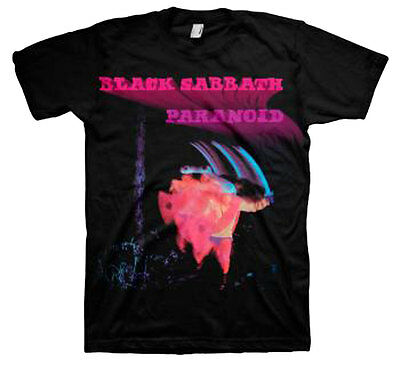 Official Black Sabbath Paranoid Motion Trails Adult T-shirt -Rock Band Ozzy Osbo