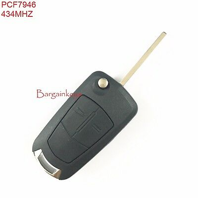 VAUXHALL OPEL VECTRA CORSA D REMOTE KEY FOB 2 BUTTON 433MHz PCF7946