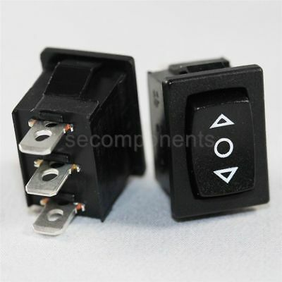 Light Country R19A Momentary 3 Position Rocker Switch Black SPDT 15 A  250 V