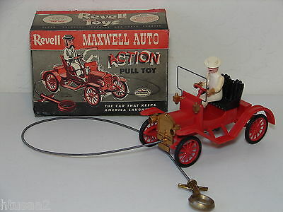 Vintage Revell Antique MAXWELL OPEN TOURER CAR Action Pull Toy in Original Box