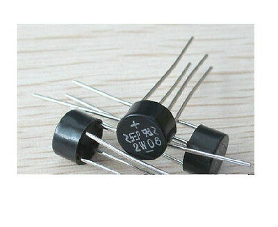 5pcs NEW  Bridge Rectifier 2W06 2A 600V diode 2 amp 600 Volt Full Wave Rectifier