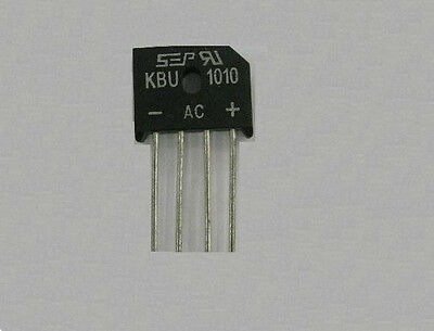 2pcs KBU1010 KBU-1010 10A 1000V Single Phases Diode Rectifier Bridge Single