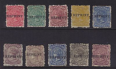 Tasmania;1871 Sideface issue set to 5/- REPRINTS (No Stops).**VERY RARE**