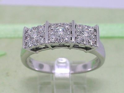 Diamant Brillant Ring 585 Weißgold 14Kt Gold 0,45ct Wesselton Brillanten