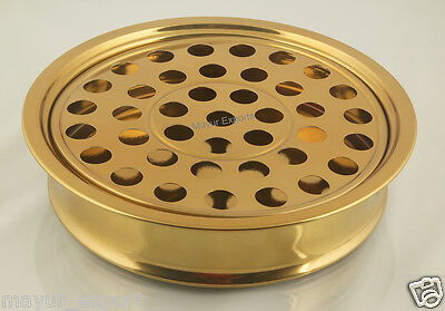 """Brass Tone -Stainless Steel Communion Cup Tray 12.2"""" - Holds 40 Cups-Brand New"""