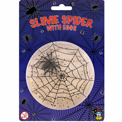 Slime Spider With Eggs – Halloween Decoration Kids Scary Creepy Gross Toy Goo