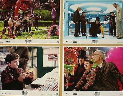CHARLIE AND THE CHOCOLATE FACTORY 11x14 Lobby Cards Set - Tim Burton Johnny Depp
