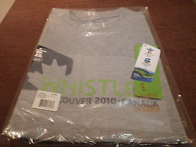 """Vancouver Olympics 2010 """"Whistler"""" Unisex Sumit SS TECH TEE-XL/TG BRAND NEW"""