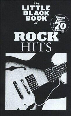 The Little Black Book Of Rock Hits Lyrics and Chords Book *NEW* Guitar, Song