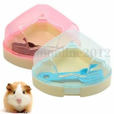 Hamsters Gerbils Mouse Mice Cage Corner Toilet Potty Box With Star Roof & Scoop