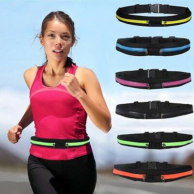 Running waterproof belt Casual waist sports bum bag to hold mobile keys 8 colors