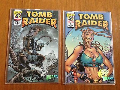 Tomb Raider 1/2 Wizard mail away issues set of both variant covers July 2000