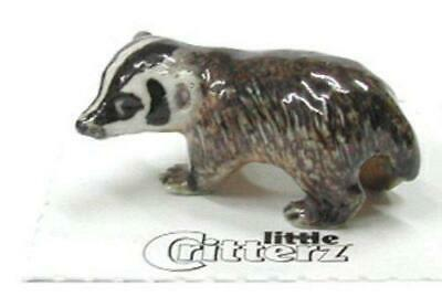"Little Critterz Miniature Porcelain Animal American Badger ""Nocturnal"" LC144"