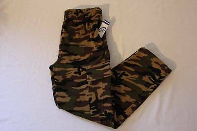 NEW Boys Camo Cargo Pants XL 16 - 18 Green Brown Camouflage Pockets Combat Nice!